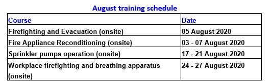 aug 2020 training