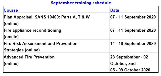 sep 2020 training